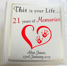 Personalised Photo Album, Memories,21st Birthday, (6 x 4) 300 photos