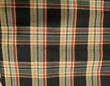 Black Plaid Light Weight Cotton Fabric By The Yard