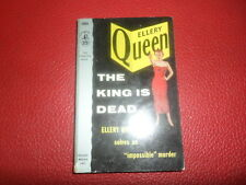 THE KING IS DEAD by Ellery Queen, Pocket book #1005 1st printing,1954