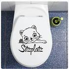 Sitzplatz WC Deckel Katze Aufkleber Wandtattoo Bad Toilettendeckel Klo TDA040