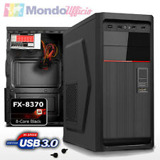 PC Computer Desktop AMD FX 8370 4,30 Ghz 8 Core - Ram 4 GB 1600 Mhz - USB 3.0