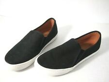Corso Como Womens Sneakers 8 Black Suede Leather Slip On Tennis Shoes