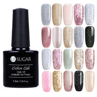 UR SUGAR 7.5ml Rose Gold Silver Soak Off UV Gel Nail Polish Glitter Gel Varnish