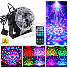 Disco Ball Party Light 3W RGB Sound Activated Strobe Stage Crystal Magic Ball