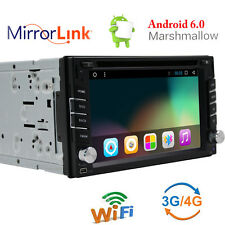 Android 6.0 6.2'' Car DVD Player Stereo Double 2 Din GPS Bluetooth DBD2 DVR Sub