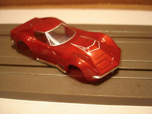 TOMY AFX BODY ONLY 1970 CHEVROLET CORVETTE LT1 BODY IN RED MATALLIC FITS 1.5