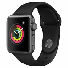 Apple Watch Series 3 38mm Space Gray Aluminum Case Black Sport Band - MTF02B/A