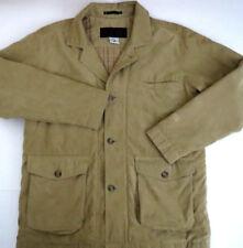 Columbia XCO SoftShell Coat Jacket mens Sz L Beige Tan Omni plaid lined WM 5378