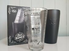 Fred & Friends BAR BONES 250ML / 9oz Stainless Steel And Glass Cocktail Shaker