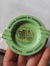 Vintage Metal Ashtray Weirton Steel Company National Steel Weirton West Virginia