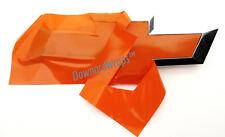 "Orange Gloss Vinyl Decal Sheets (2) U-Cut Chevy Bowtie Emblem covers 11"" x 4"""