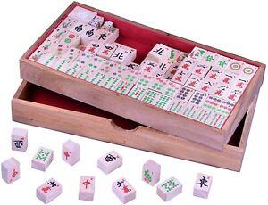 Mayong Mahjongg Mah-jong Mah-Jongg Mahjong Legespiel Gesellschaftsspiel aus Holz