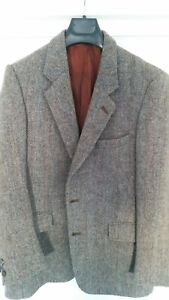Harris Tweed Jacket, grey herringbone, Sz 38
