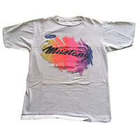 Vintage 80s Single Stitch T-Shirt Mens Large Ford Mustang Classic Muscle Car 60s