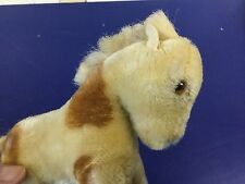"""ANTIQUE VINTAGE GERMAN STEIFF PINTO PAINT PONY HORSE  NO ID 6.5"""" TALL SWEET!"""