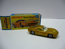 Matchbox  Superfast-  MB 33 Lamborghini Mura P 400 - goldmetal - Made in England