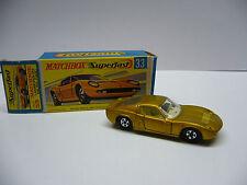Matchbox  Superfast-  MB 33 Lamborghini Mura P 400 - goldmetal - Made in England