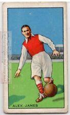 Alex James Scottish International Soccer Footballer 1930s Trade  Ad Card