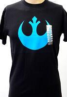 NEW! Star Wars Rebel Alliance Symbol Logo Rebellion Black Blue Shirt Small XS