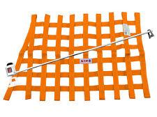 STR Race Window Net SFI 27.1 Certified Installation Kit Autograss Mini - Orange