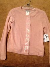Elissa B Girl Size 12 Peach Cardigan Sweater With Sequins NWT