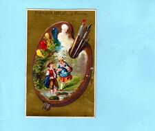 Vintage Trade Card French Chromo Lovers Painter Palette Magasin De Nouveautes