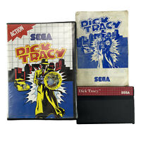 Sega Master System DICK TRACY Complete In Clamshell Case with OZI SOFT Sticker