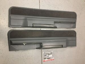 1986 Olds Cutlass Supreme 2 Dr RWD LOWER GRAY DOOR PANELS - SET OF 2 OEM