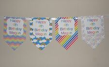 PERSONALISED RAINBOW THEME BUNTING BANNER GREAT FOR BIRTHDAYS LOOK!!