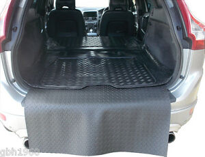 Volvo XC60 estate 2008-2016 natural rubber boot mat load liner bumper protector
