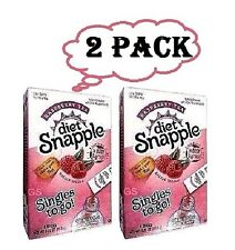 Diet Snapple Raspberry Tea Iced Tea Mix Singles to go Total 12 Packets (2 boxes