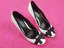 Women's Mkone Ladies Pencil High Heel Shoes Black and White Size UK 4