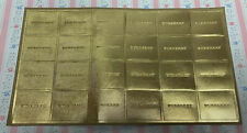 """Full Sheet Of Gold Burberry Seals / Stickers, 2"""" X 1.75"""""""