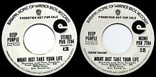 "DEEP PURPLE *VG* 1974 US WARNER BROS M/S WL PROMO 45 ""MIGHT JUST TAKE YOUR LIFE"""