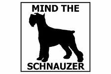 Mind the (Standard) Schnauzer - Gate/Door Ceramic Tile Sign