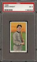 Rare 1909-11 T206 Zack Wheat Piedmont 350-460 Brooklyn HOF PSA 5 EX