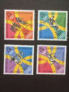MONTSERRAT 1996 OLYMPICS MLH SET OF 4