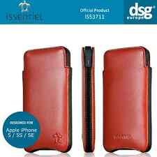 Issentiel paris elegance-en cuir véritable rouge étui housse pour iPhone 5S 5C 5 SE