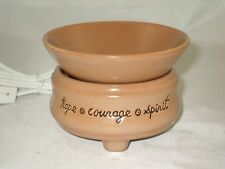 Candle/Tart Warmer (2-Piece ELECTRIC) INSPIRATIONS Hope/Courage/Spirit