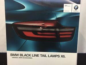 BMW OEM NEW X6 E71 LCI BLACKLINE TAIL LIGHTS! FULL NEW RETROFIT KIT!