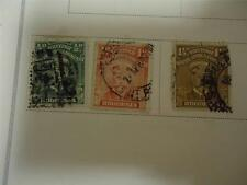 Lot of 3 Vintage Official Rhodesia Postage Stamps 1913 On Page - Make an Offer