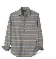 Banana Republic Mens Soft Wash Tailored Slim Fit Gray Stripe Shirt S/L/XL New