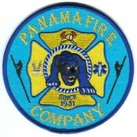 Panama Fire Company Department Rescue EMS Panther Patch New York NY Patches Blue