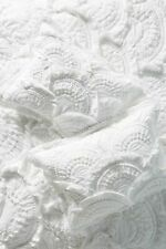 Anthropologie White Rivulet Pillow Cotton Euro Sham New 26 x 26