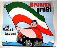 großer Aufkleber LKW Brummi grüßt aus Nordrhein Westfalen 40 x 37 cm ORIGINAL
