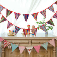 12 Flags 3.2m Fabric String Wedding Birthday Party Pennant Bunting Banner Decor
