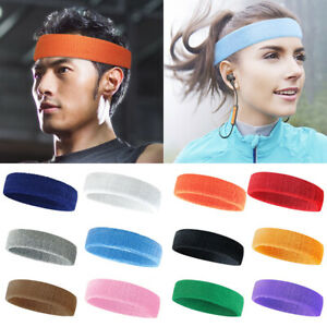 3 PCS Sports Headband Breathable Towel Sweat-absorbent Solid Color Yoga Fitness