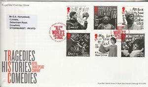 2011 Royal Shakespeare Comany FDC Excellent Condition