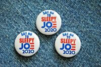 "Anti Sleepy Joe Biden Pro Donald TRUMP 2020 Pin Pinback Button 1"" MAGA election"