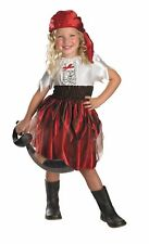 Child SASSY SWASHBUCKLER Complete Halloween Pirate Costume Dress 4-6 Disguise